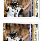 Joe Flacco Trading Card Lot of (2) 2013 Score #14 Ravens