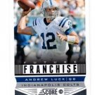 Andrew Luck Future Franchise Trading Card Single 2013 Score #312 Colts