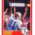 Ernest Givins Trading Card Single 1989 Score #184 Oilers
