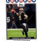 Drew Brees Trading Card Single 2008 Topps LL #287 Saints