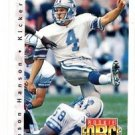 Jason Hanson RC Trading Card 1992 Upper Deck #411 Lions RF