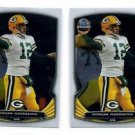 Aaron Rodgers Trading Card Lot of (2) 2014 Bowman Chrome #21 Packers