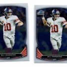 Eli Manning Trading Card Lot of (2) 2014 Bowman Chrome #95 Giants