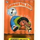 Johnny One-Note Sticker Trading Card 1986 Topps Garbage Pail Kids #175B