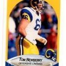Tom Newberry Trading Card Single 1990 Fleer #43 Rams