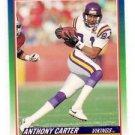 Anthony Carter Trading Card Single 1990 Score #345 Vikings