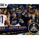 Dennis Pitta Super Bowl XLVII Trading Card Single 2013 Score #259 Ravens