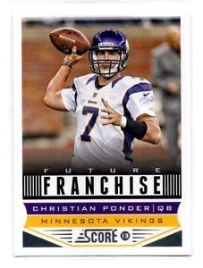 Christian Ponder Future Franchise Trading Card Single 2013 Score #316 Vikings
