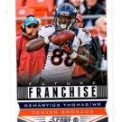Demaryius Thomas Future Franchise Trading Card Single 2013 Score #308 Broncos