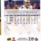 Tony Romo Trading Card Single 2008 Upper Deck #50 Cowboys
