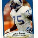 Lomas Brown Trading Card Single 1990 Fleer #278 Lions