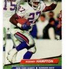 Rodney Hampton Trading Card Single 1992 Fleer Ultra #277 Giants