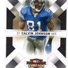 Calvin Johnson Trading Card Single 2008 Donruss Threads #32 Lions