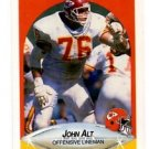 John Alt Trading Card Single 1990 Fleer #197 Chiefs