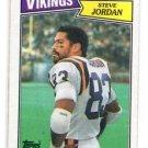 Steve Jordan Trading Card Single 1987 Topps #204 Vikings NMT