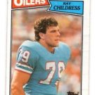 Ray Childress Tradng Card Single 1987 Topps #314 Oilers NMT