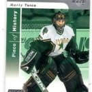 Marty Turco Tradng Card Single 2002-03 Upper Deck Piece Of History #30 Stars