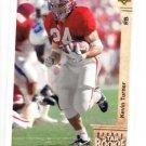 Kevin Turner RC Tradng Card Single 1992 Upper Deck #25 Patriots