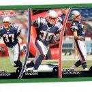 James Sanders Rodney Harrison Stephen Gostkowski 2007 Topps Total #231 Patriots