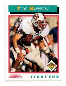 Todd Harrison RC Trading Card Single 1992 Score #489