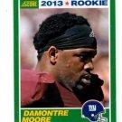 Damontre Moore RC Trading Card Single 2013 Score #353 Giants
