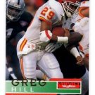 Greg Hill Tradng Card Single 1995 Skybox Impact #71 Chiefs