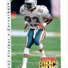 Troy Vincent RC Tradng Card Single 1992 Upper Deck #423 Dolphins RF
