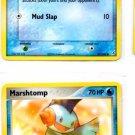 Marshtomp & Mudkip Trading Card Lot Pokemon Crystal Guardians 36 17 100 x1 NMT