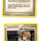 Bill's Maintenance Common Trainer Pokemon FireRed & LeafGreen 87/112 x2
