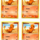 Charmander Common Trading Card Pokemon FireRed & LeafGreen 58/112 x4 NMT
