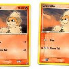 Growlithe Common Pokemon Fire Red Leaf Green 64/112 NMMT x 2