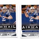 Andrew Luck Airmail Trading Card Lot of (2) 2013 Score #234 Colts