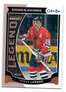 Steve Larmer Marquee Legends Card 2015-16 UD OPC #591 Blackhawks