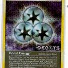 Boost Energy Uncommon Reverse Foil Pokemon EX Deoxys 93/107 x1 NMMT
