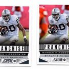 Darren McFadden Franchise Trading Card Lot of (2) 2013 Score #289 Raiders