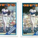 Dwight Gooden Trading Card Lot of (2) 1988 Topps #480 Mets