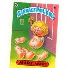 Mart Apart License Back Sticker Card 1985 Topps Garbage Pail Kids UK Mini #6a