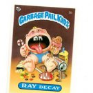 Ray Decay License Back Sticker Card 1985 Topps Garbage Pail Kids UK Mini #2b