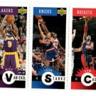 Nick Van Exel Sam Cassel John Starks Mini Cards 1996-97 UD Collector's Choice