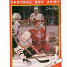Central Red Army Team Trading Card Single 1990-91 OPC Super Series #29r