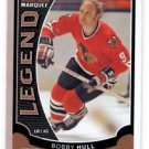 Bobby Hull Marquee Legends Card 2015-16 UD OPC #554 Blackhawks
