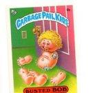 Busted Bob License Back Sticker Card 1985 Topps Garbage Pail Kids UK Mini #6b