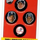 Nick Johnson D'Angelo Jimenez Wily Mo Pena RC 201 UD VIntage #354 Yankees