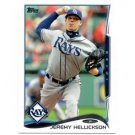 Jeremy Hellickson Trading Card Single 2014 Topps Mini Exclusives #202 Rays