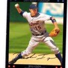 Brandon Inge Red Back SP Trading Card Single 2007 Topps #28 Tigers
