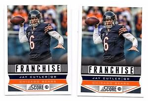 Jay Cutler Franchise Trading Card Lot of (2) 2013 Score #272 Bears