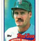 Wade Boggs Trading Card Single 1989 Topps #600 Red Sox