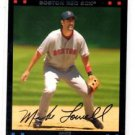 Mike Lowell Red Back Trading Card 2007 Topps #83 Red Sox