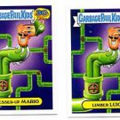 Messed Up Mario & Limber Luigi 80s Spoof Lot 2015 Topps Garbage Pail Kids #18a b