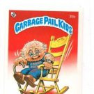 Rockin' Robert License Back Sticker 1985 Topps Garbage Pail Kids UK Mini #35b